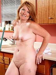 Sexy Blonde Haired Housewife From Allover30 Stripping In The Kitchen^all Over 30 Mature Porn Sex XXX Mature Mom Free Pics Picture Gallery