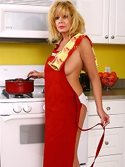 40 Year Old Arowyn Strips And Spreads In The Kitchen^all Over 30 Mature Porn Sex XXX Mom Picture Pics