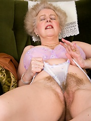 Older Gray Haired Lady Spreading Her Very Hairy Bush^all Over 30 Mature Porn Sex XXX Mom Picture Pics