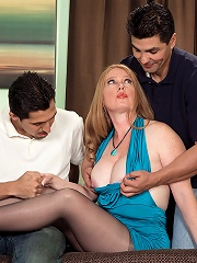 Its Heathers First Time, And Shes Fucking Two Cocks!^40 Something Mag Mature Porn Sex XXX Mom Picture Pics