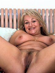 Perky 53 Year Old Reveals Hairy Muff^40 Something Mag Mature Porn Sex XXX Mom Picture Pics