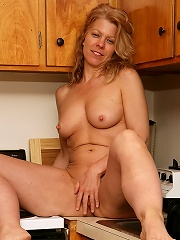 Blonde Mature Housewife Lauren E Gets Down And Dirty In The Kitchen^all Over 30 Mature Porn Sex XXX Mom Picture Pics