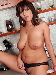 Sexy Brunette Housewife Gets Naked And Spreads In The Kitchen^all Over 30 Mature Porn Sex XXX Mature Matures Mom Moms Erotic Pics Picture Gallery Free